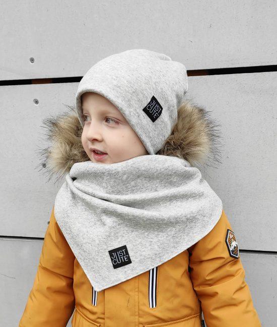 winter šedý melír