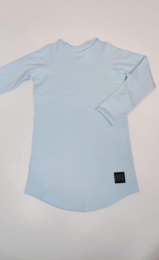 tričko long bledomodrá