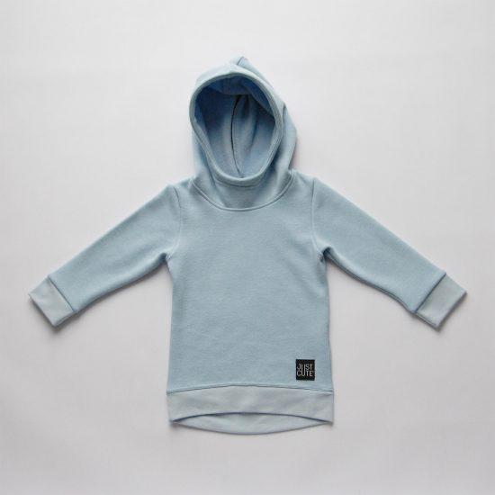 Mikina hoodie winter bledomodrá