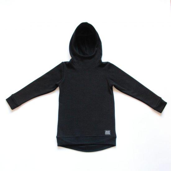 Mikina hoodie winter čierna