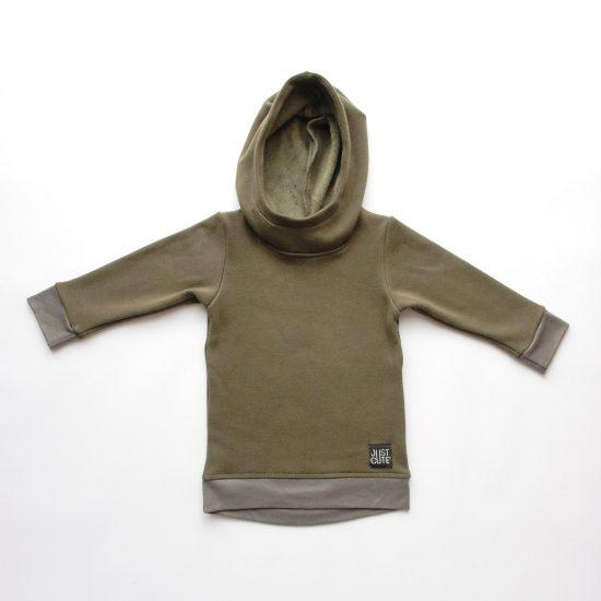 Mikina hoodie winter khaki