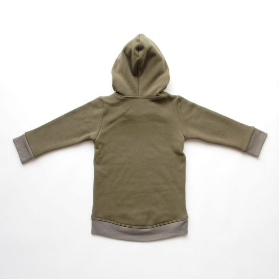 Mikina hoodie winter khaki zadná strana