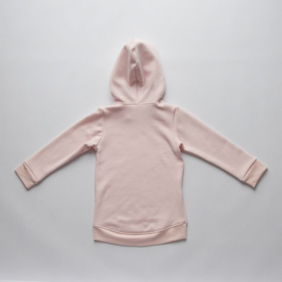 Mikina hoodie winter ružová zadná strana