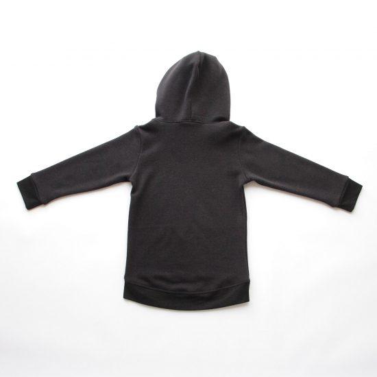 Mikina wrapper winter čierna zadná strana