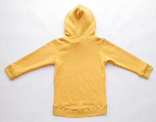 Mikina wrapper winter žltá zadná strana
