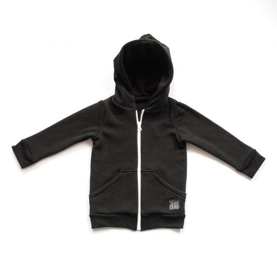 Mikina zipper winter čierna