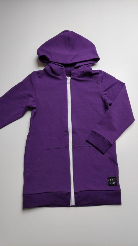 mikina zipper fialová