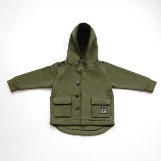 Kabátik casual army zelená