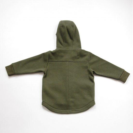 Kabátik casual army zelená zadná strana