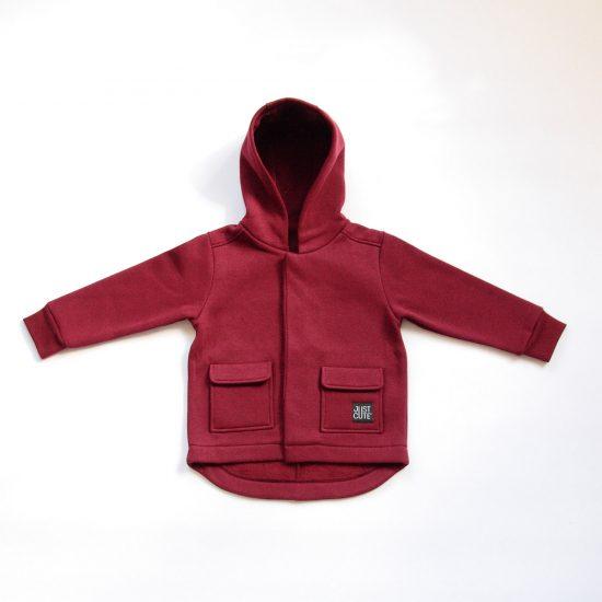 Kabátik casual bordová