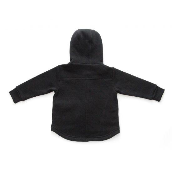 Kabátik casual čierna zadná strana