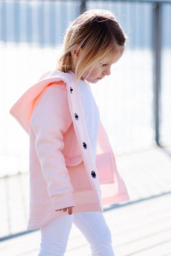 Kabátik casual ružová