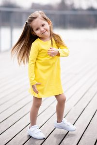 Šaty pocket žltá jasná