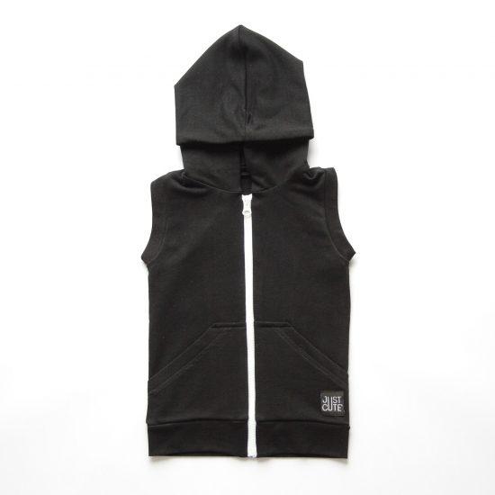 Vesta zipper čierna