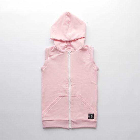 Vesta zipper ružová