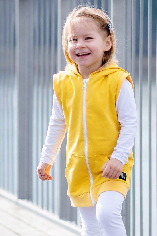 Vesta zipper žltá