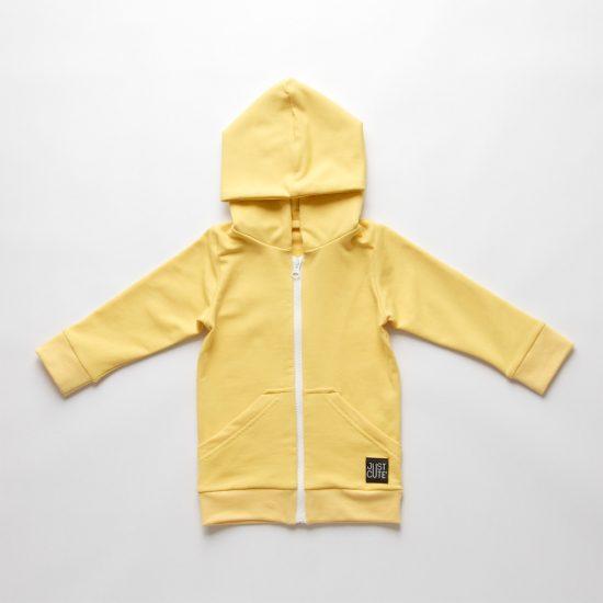 Zipper mikina žltá