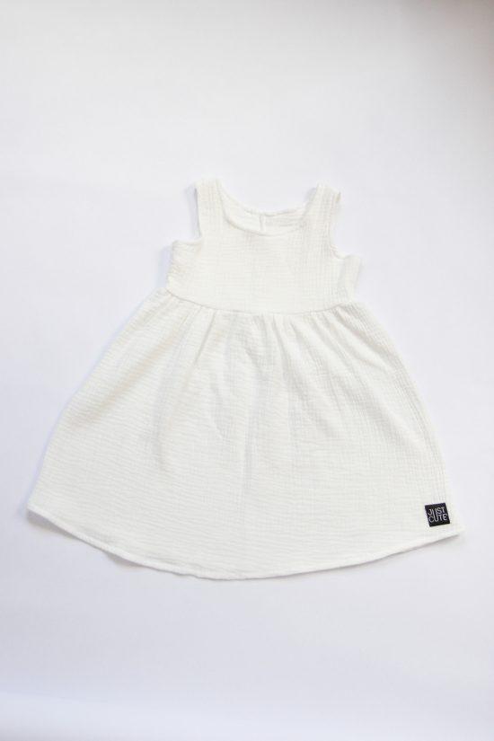 Šaty muslin biela