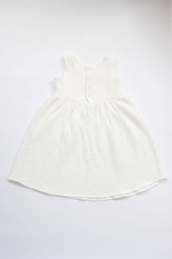 Šaty muslin biela zadná strana