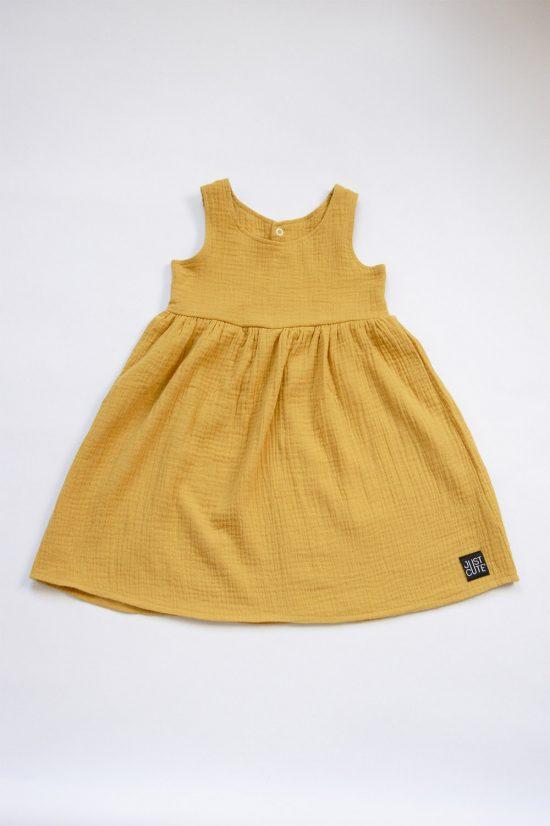 Šaty muslin okrová