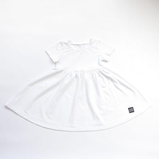 Šaty spinning biela
