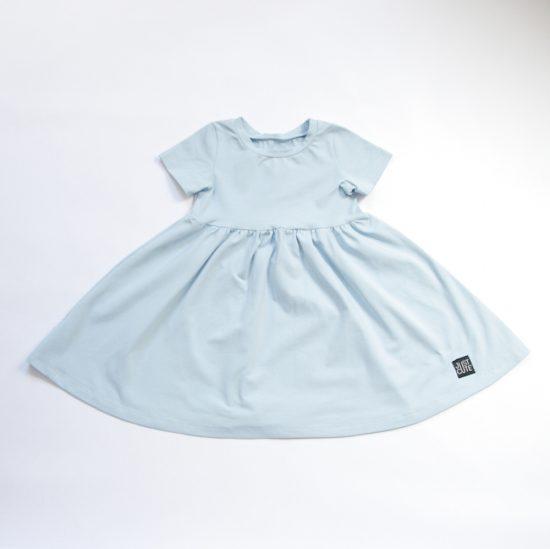 Šaty spinning bledomodrá