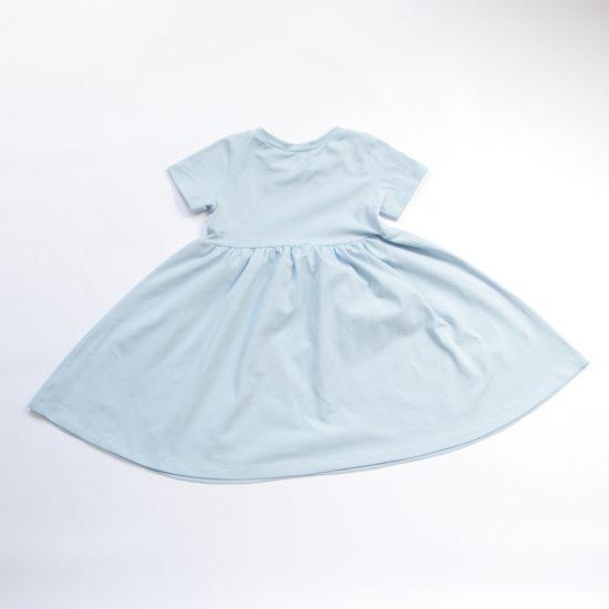 Šaty spinning bledomodrá zadná strana