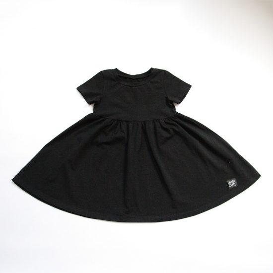 Šaty spinning čierna