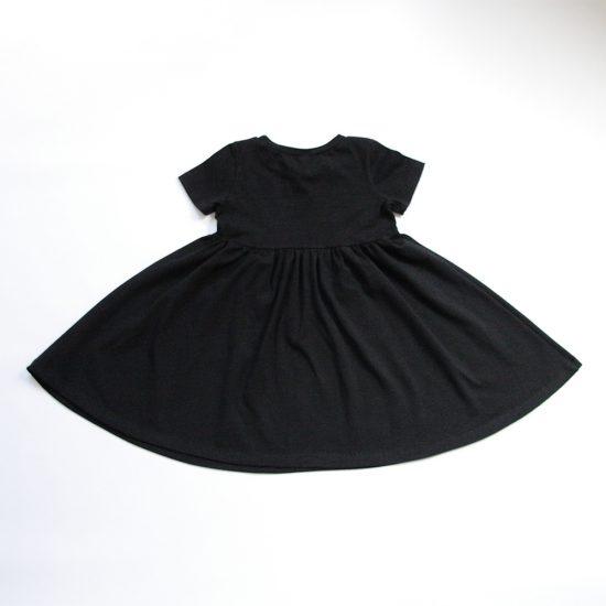 Šaty spinning čierna zadná strana