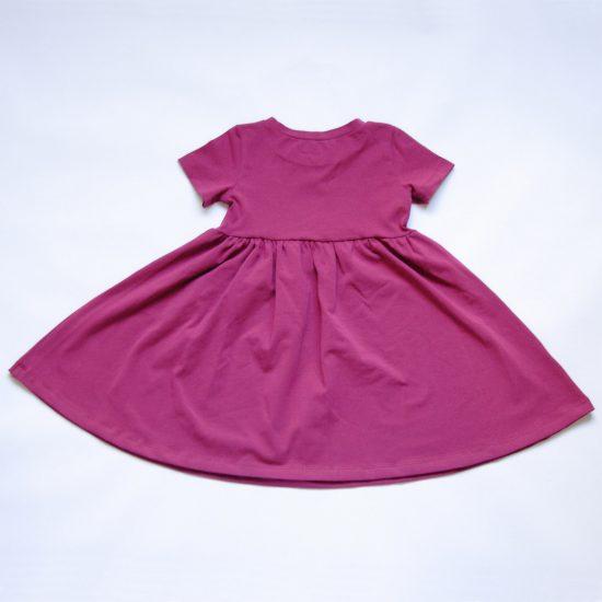 Šaty spinning fuchsia zadná strana