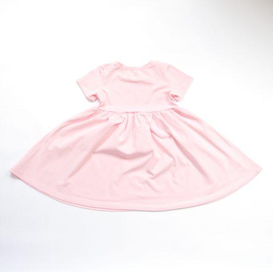Šaty spinning ružová zadná strana