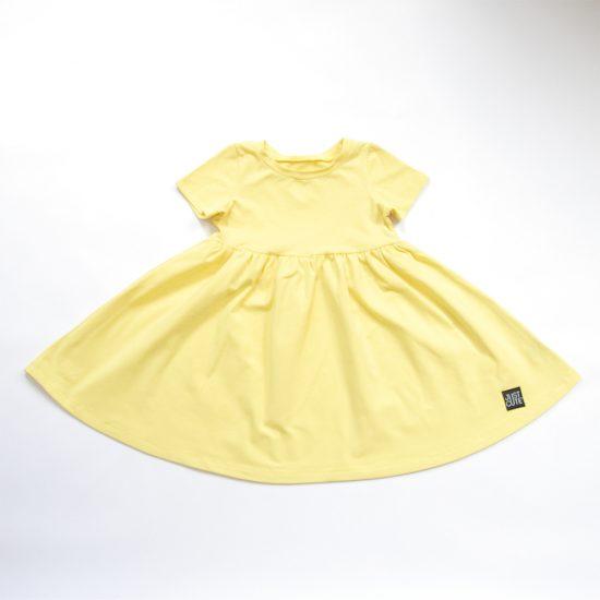 Šaty spinning žltá jasná