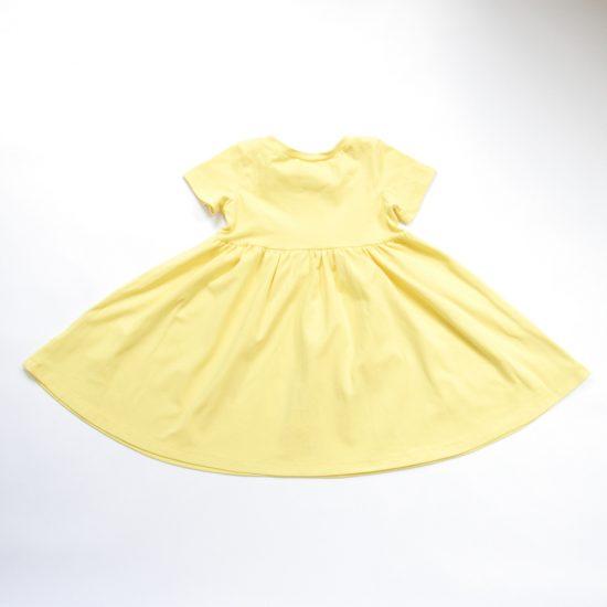 Šaty spinning žltá jasná zadná strana