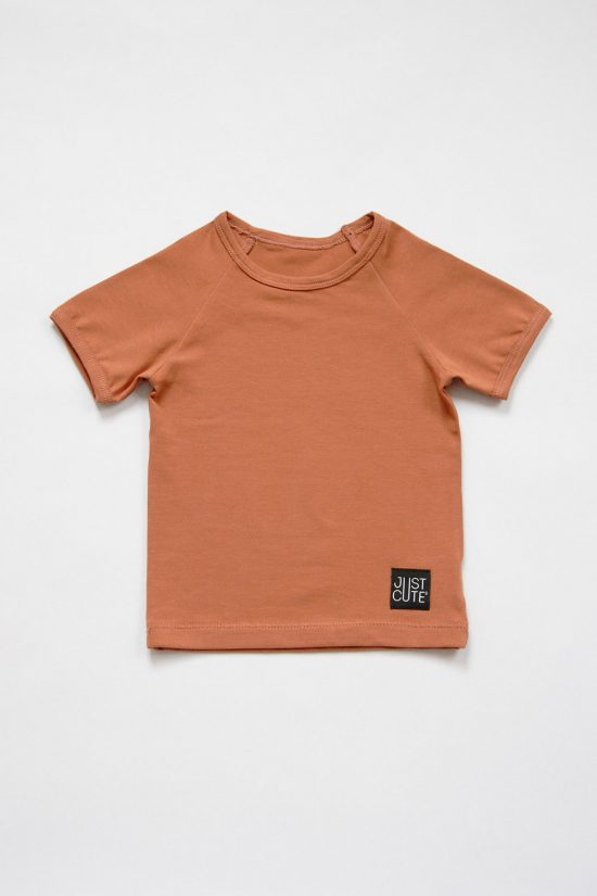 Tričko simple summer tmavá škorica