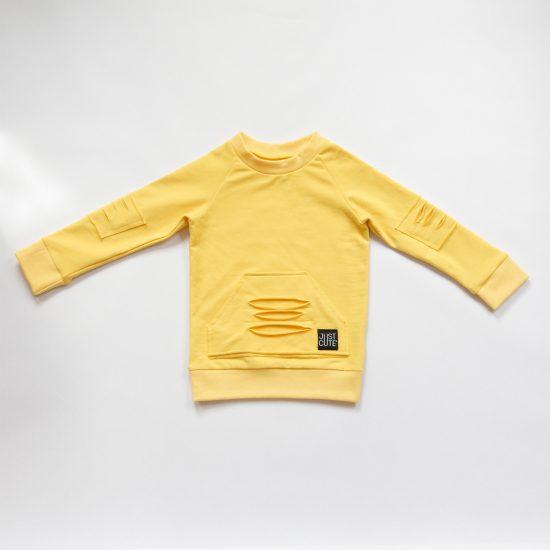 Mikina basic ragged žltá
