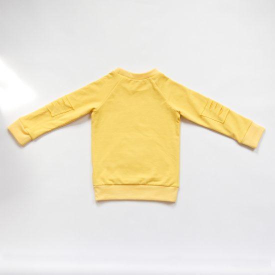 Mikina basic ragged žltá zadná strana