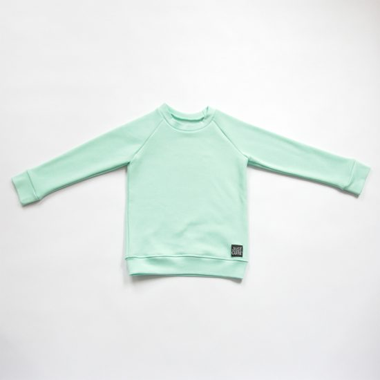 Mikina basic winter mint