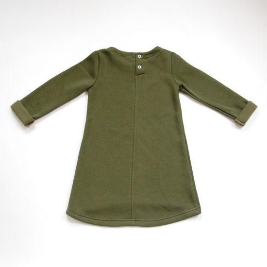 Šaty cute winter army zelená zadná strana