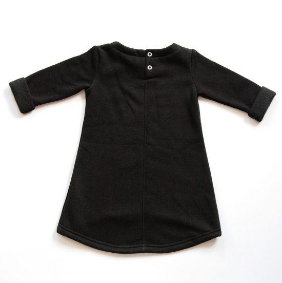 Šaty cute winter čierna zadná strana