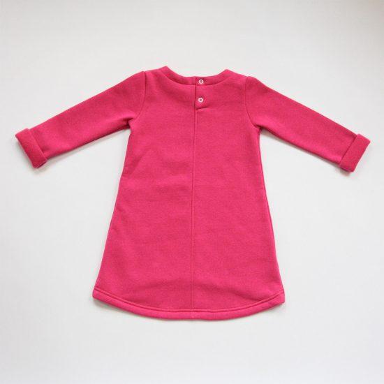 Šaty cute winter fuchsia zadná strana