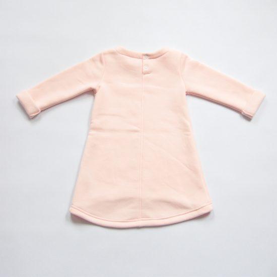 Šaty cute winter ružová zadná strana