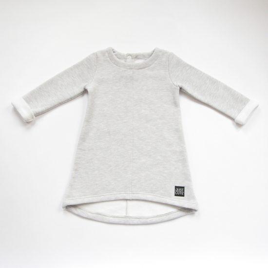 Šaty cute winter šedý melír