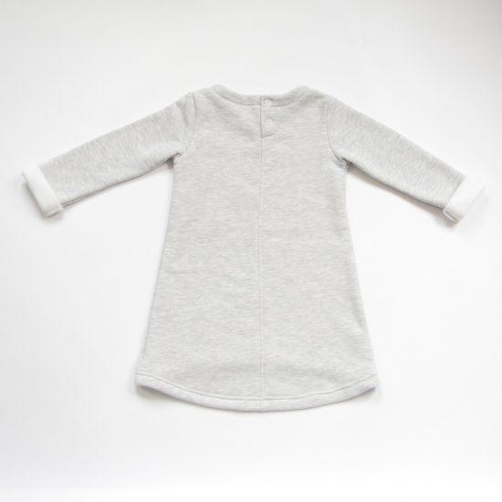 Šaty cute winter šedý melír zadná strana