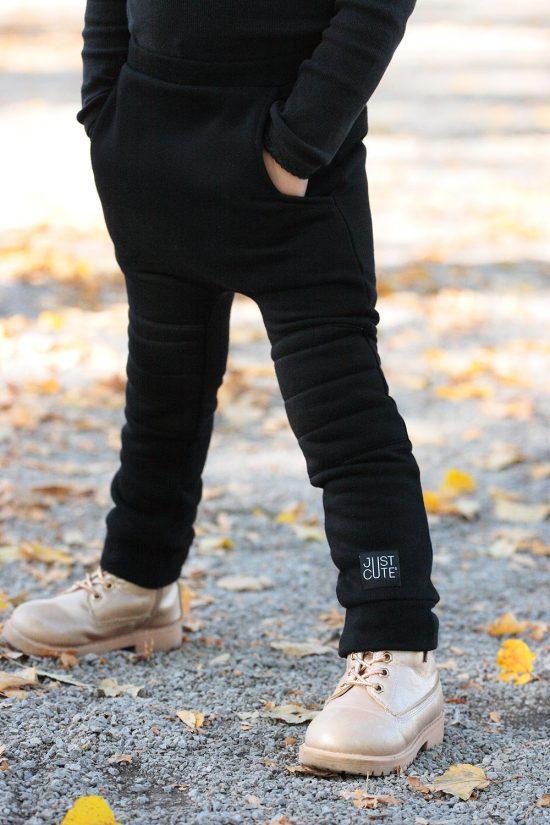 Tepláky patched winter čierna