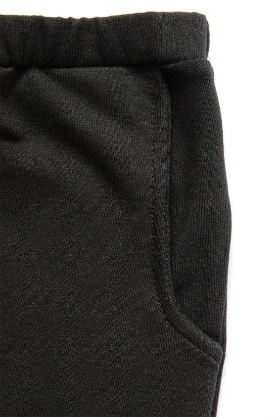 Tepláky ragged čierna detail vačku