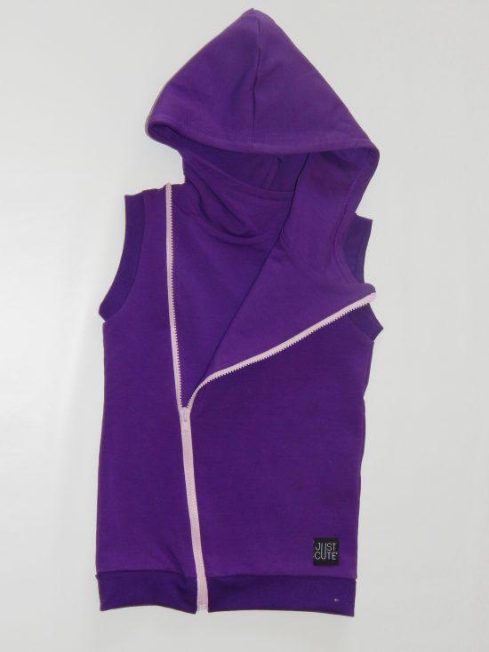 vesta zipper cross fialova