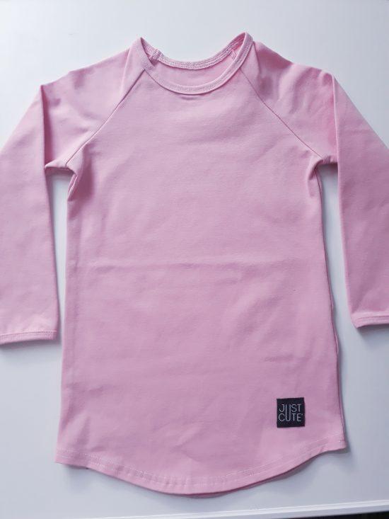 tričko long ružová