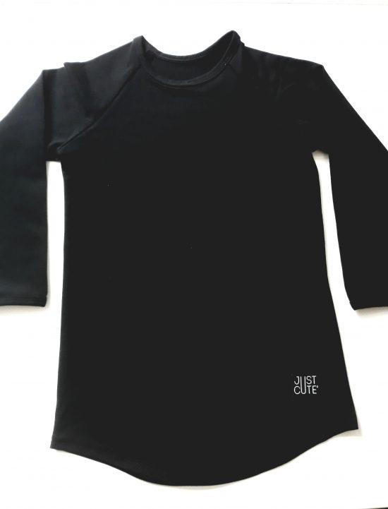 tričko long čierna