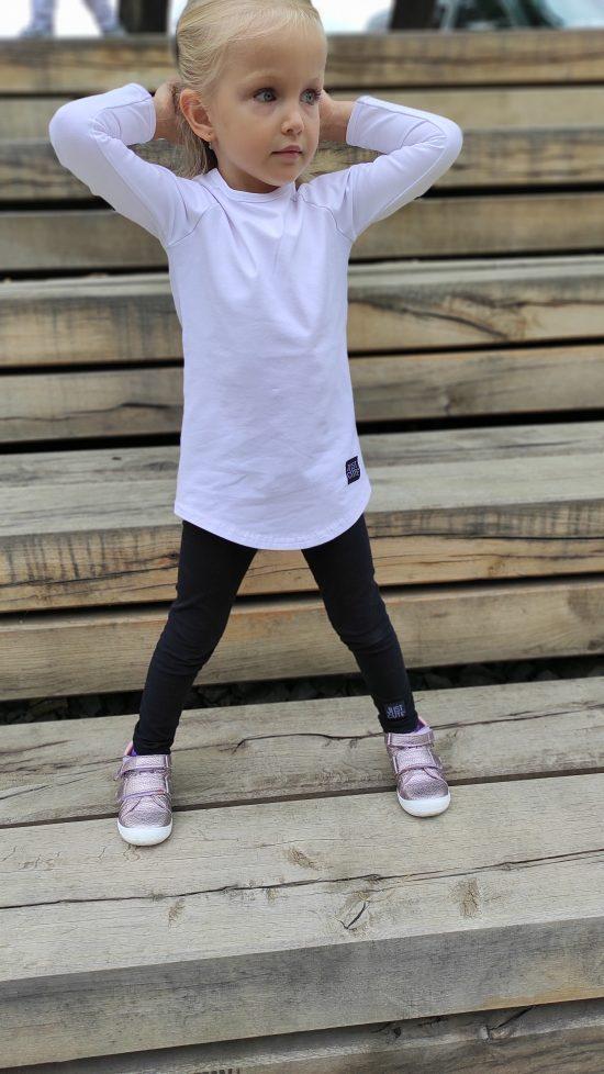 tričko long biela