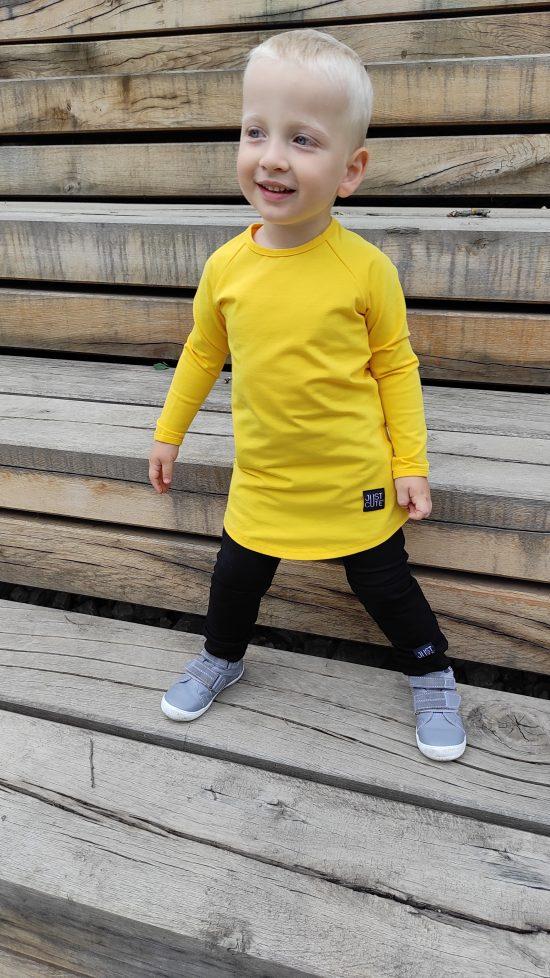 tričko long žltá